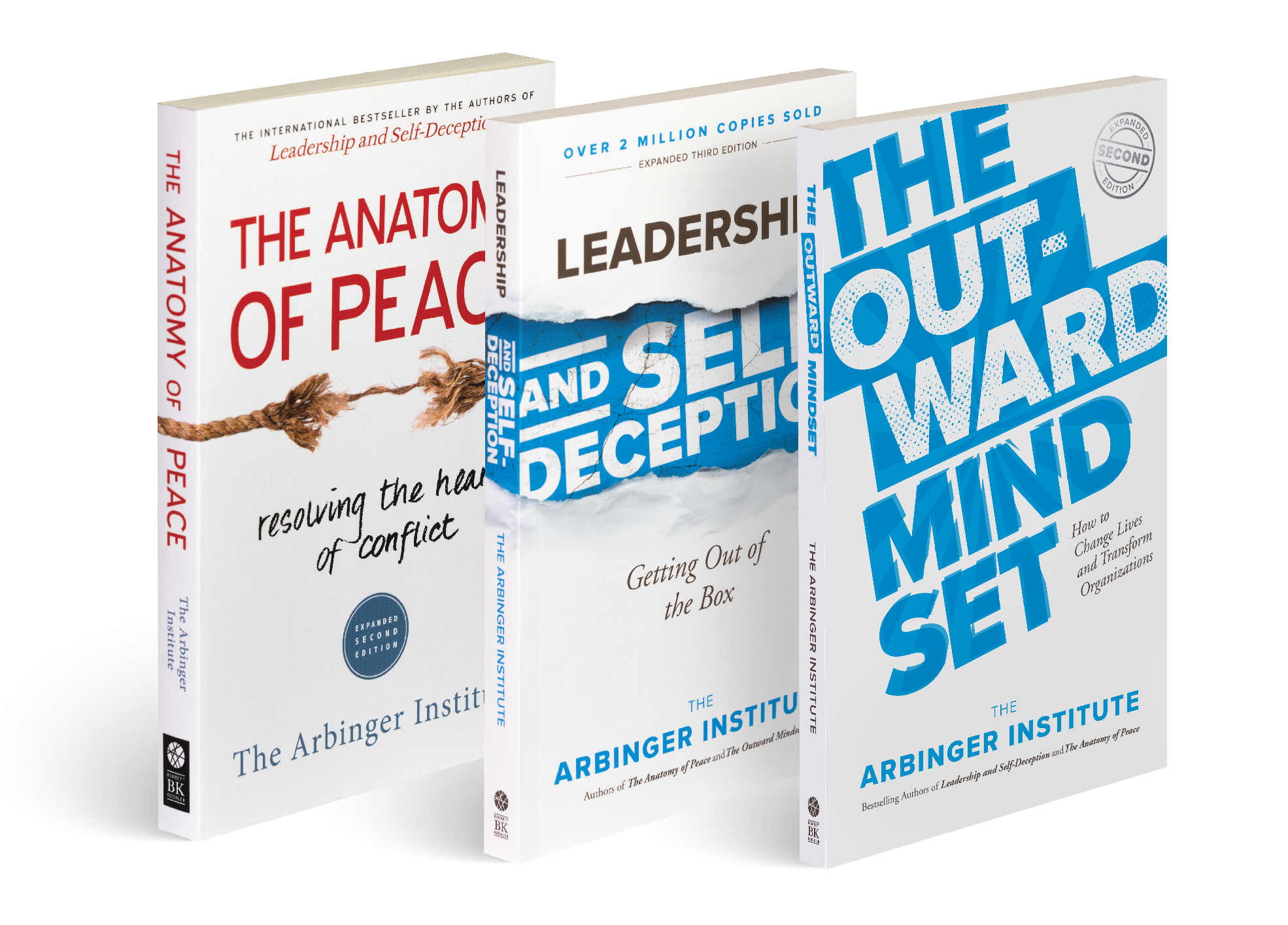 The Anatomy of Peace, Leadership and Self-Deception, and The Outward Mindset, Arbinger books